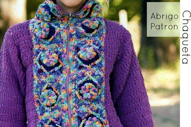 Chaqueta-Abrigo Crochet Fantasia Patron
