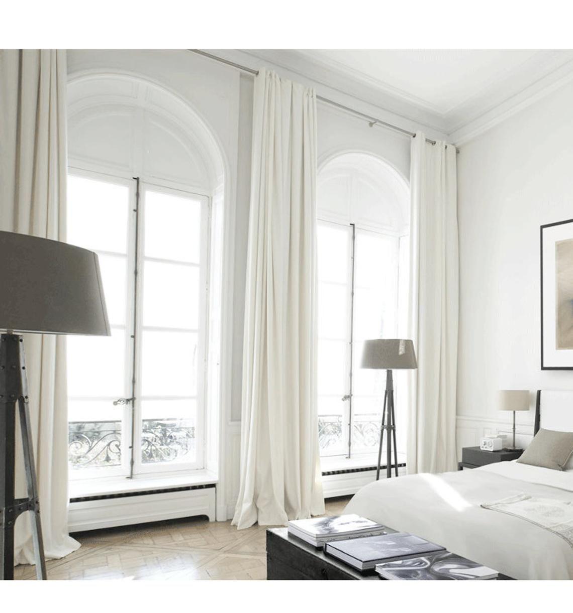 White Curtain Panels, White Drapes, Custom Curtains, Off