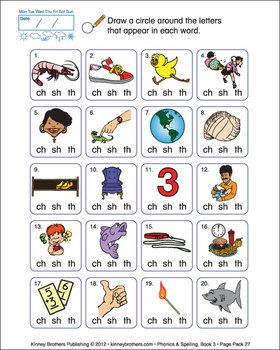 """ESL PHONICS & SPELLING, BOOK 3 - Phonics & Spelling, Book 3, drills students in spelling and pronunciation of words with a silent 'e', double vowels, and the consonant digraphs """"sh"""", """"ch"""", and """"th"""". Beginning with a review of Phonics & Spelling, Book 2, this textbook also provides more practice with colors, numbers, and introduces basic question forms using """"do"""" and """"can"""". Included are review pages, puzzles, and challenging exercises to ground students in basic phonetic-based language…"""