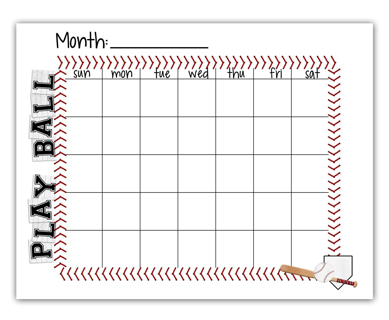 tee ball baseball schedule blank calendar free printable vbs