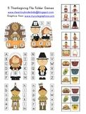 5 THANKSGIVING FILE FOLDER CENTER GAMES