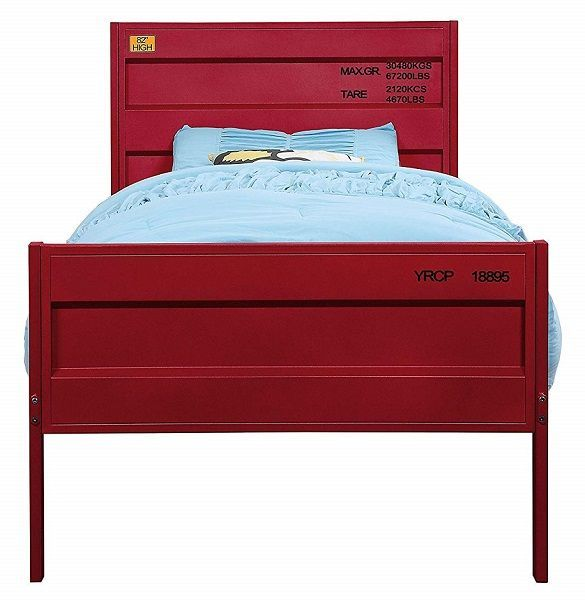 Shipping Container Red Twin Metal Bed Frame Metal Bed Frame