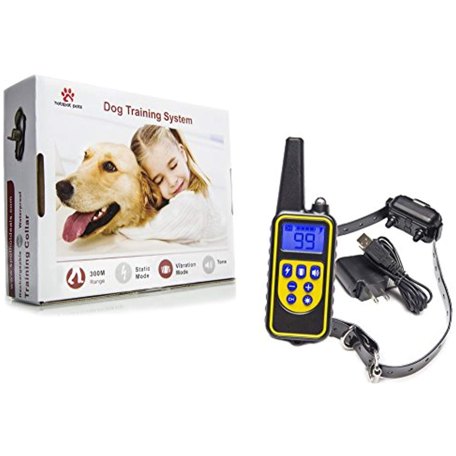 Waterproof Dog Training Collar Rechargeable Remote Controlled Dog