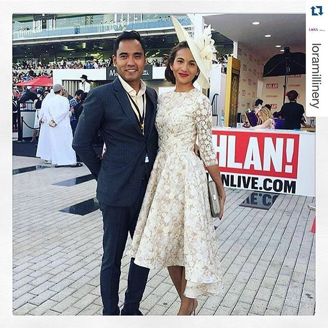 c0527ca3113  racingfashion  Repost  loramillinery Best Dressed Lady   The Dubai World  Cup 2016 wearing  kimfletchermillinery