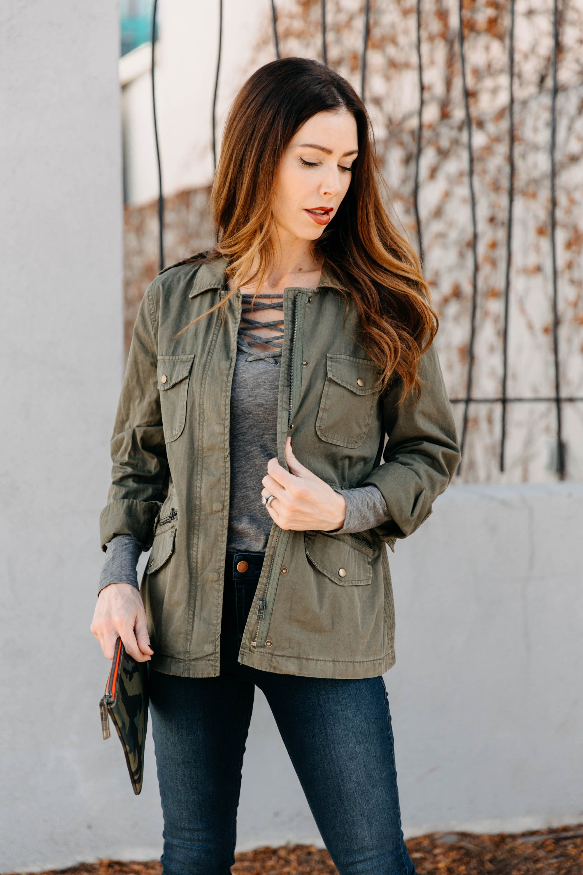 8e9348df92c Velvet by Graham   Spencer Lily Aldridge Ruby Army Jacket. This  best-selling feminine styled army jacket features an adjustable waist