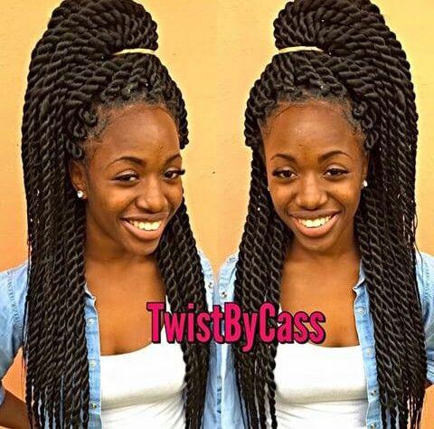 Big Rope Twists Sew In Hairstyles Twist Styles Hair Styles