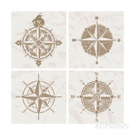 Vintage Compass Roses Posters by vso at AllPosters.com