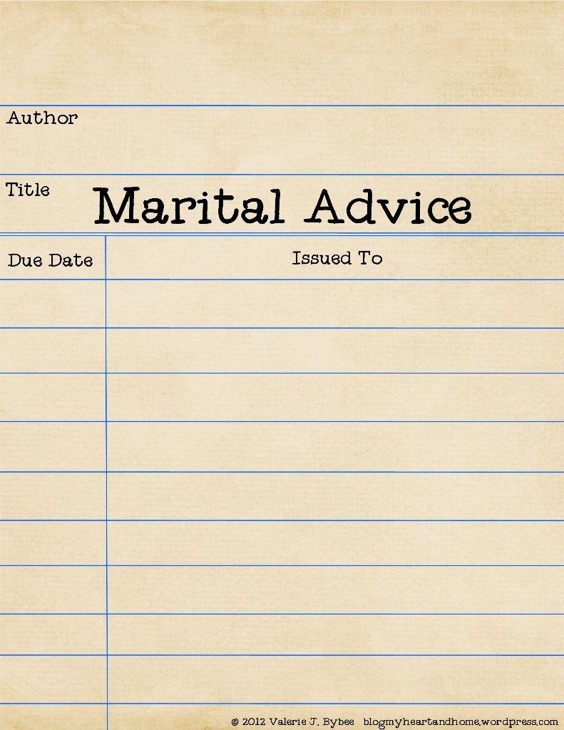 Wedding Advice Printable  Wedding Advice Wedding And Weddings