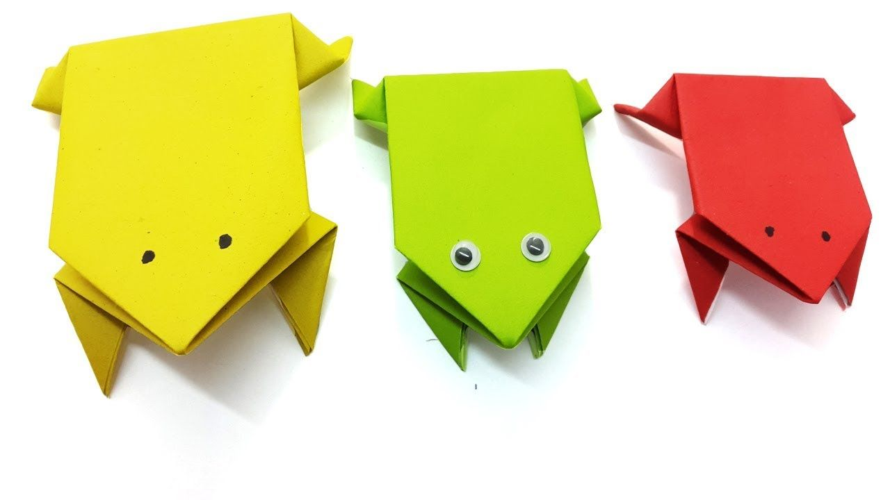Origami jumping frog how to make a paper frog that jumps far origami jumping frog is a nice paper toy for kids paper jumping frog make very easy in this video i show you how to make a paper frog that jumps jeuxipadfo Images