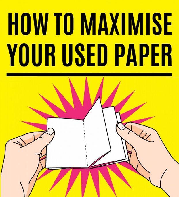 Un semplice tutorial in pochi step per trasformare un foglio di carta rovinato o parzialmente utilizzato in un mini taccuino tascabile per appunti e liste.