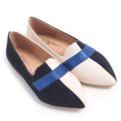 $11.81 Fashion Women's Flat Shoes With Color Block and Splice Design