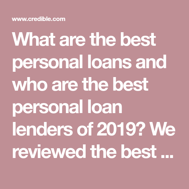 What are the best personal loans and who are the best