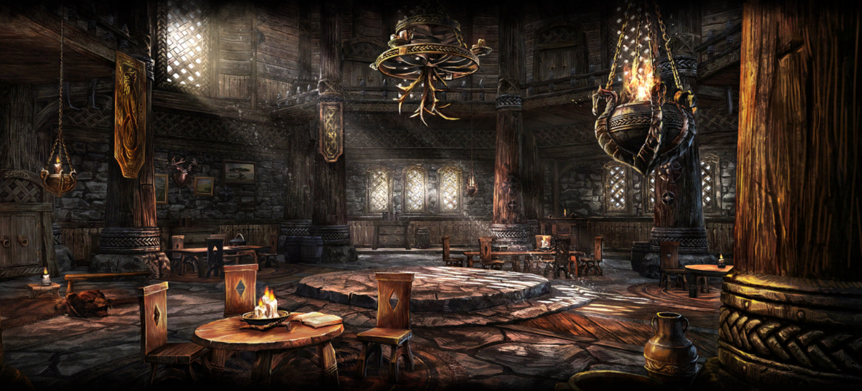 ESO housing loading screen - Hakkvild's High Hall | Elder Scrolls