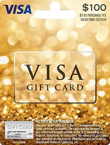 100 Visa Gift Card Plus 595 Purchase Fee