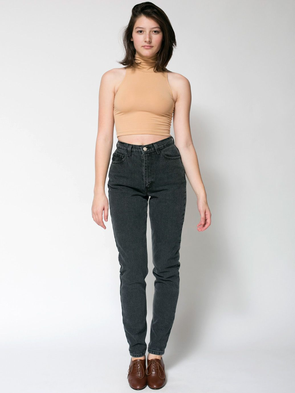 American Apparel high-waisted jeans in stone wash | Christmas Wish ...