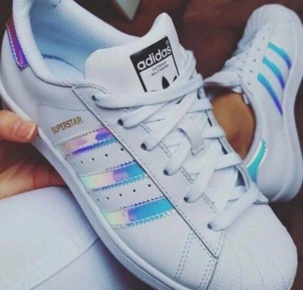 Adidas Superstar GS White Metal Silver Juniors Womens Girls ...