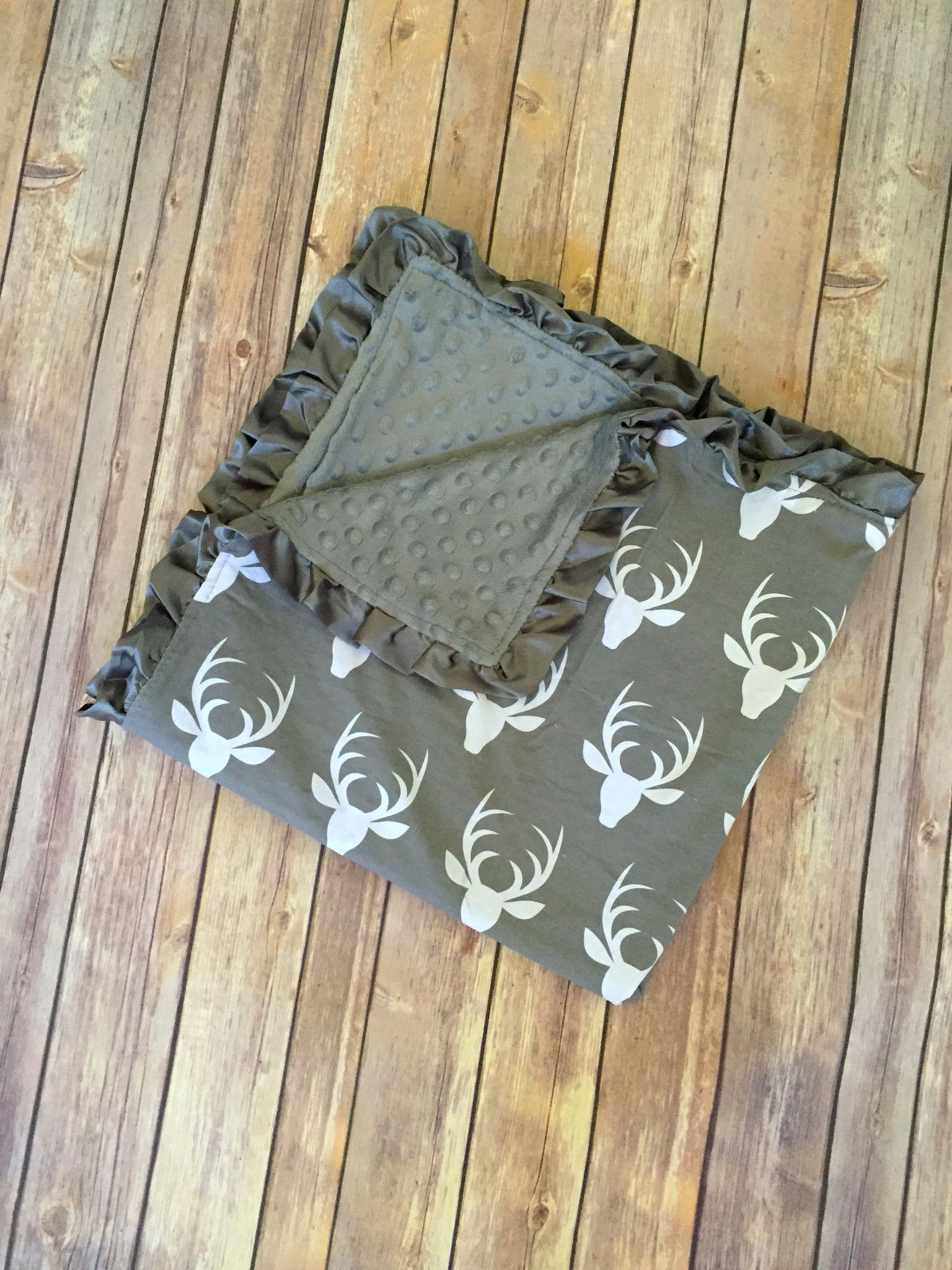 Minky blanket deergray blanket and products