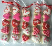 Valentines Day Sugar Cookie Gift  party favor by Just4YouTreats   Valentines Day Sugar Cookie Gift  party favor by Just4YouTreats