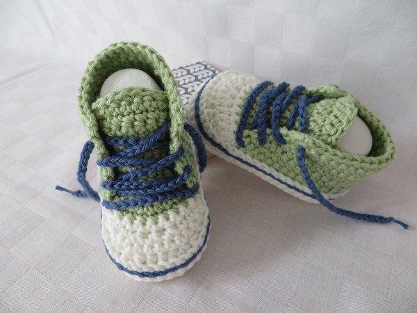 Häkelanleitung Baby Turnschuhe Chucks 2 Babyschuhe