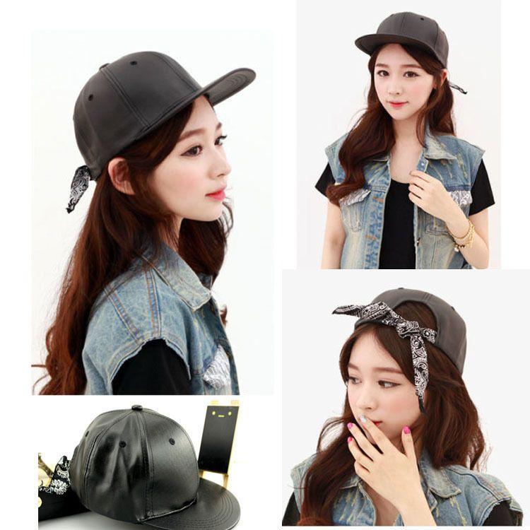 4f85b731a01 KPOP G-dragon Classic Leather Snapback Hat GD Korean Baseball Cap Bigbang YG