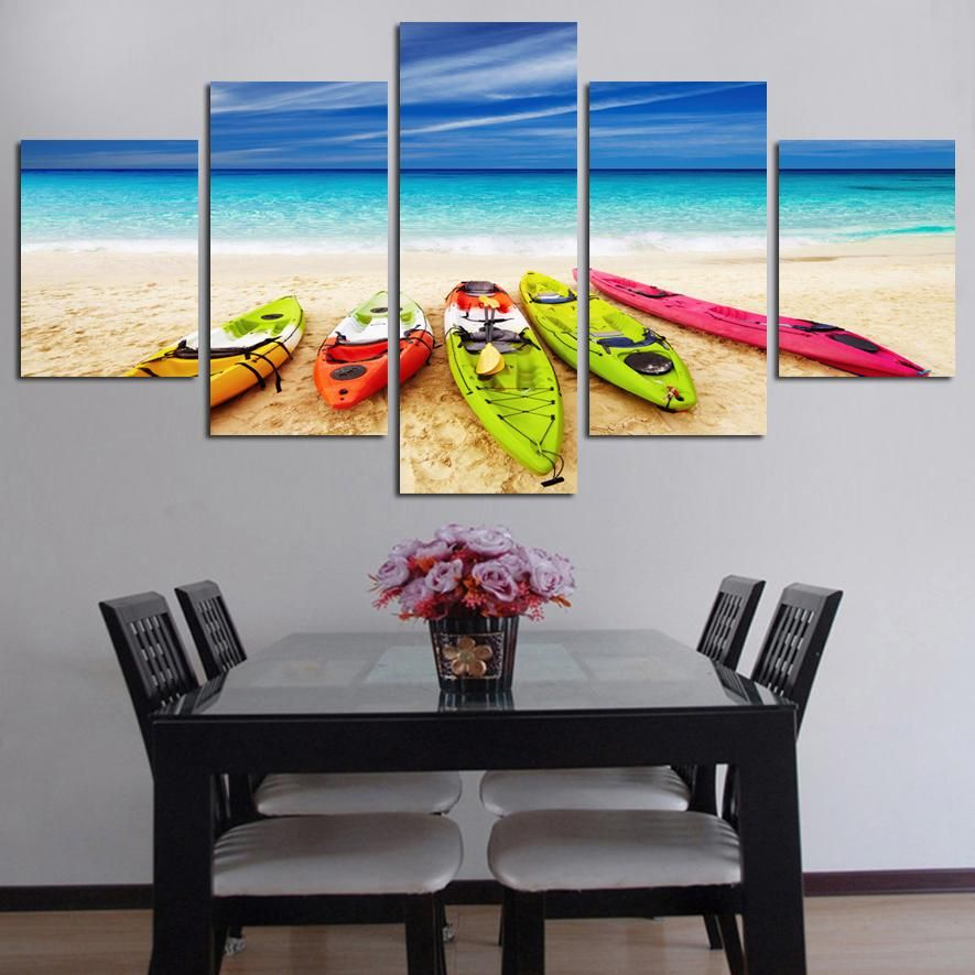 wooden frames sea yacht scenery httphomewalldecocomproducts - Wood Frames For Canvas Paintings