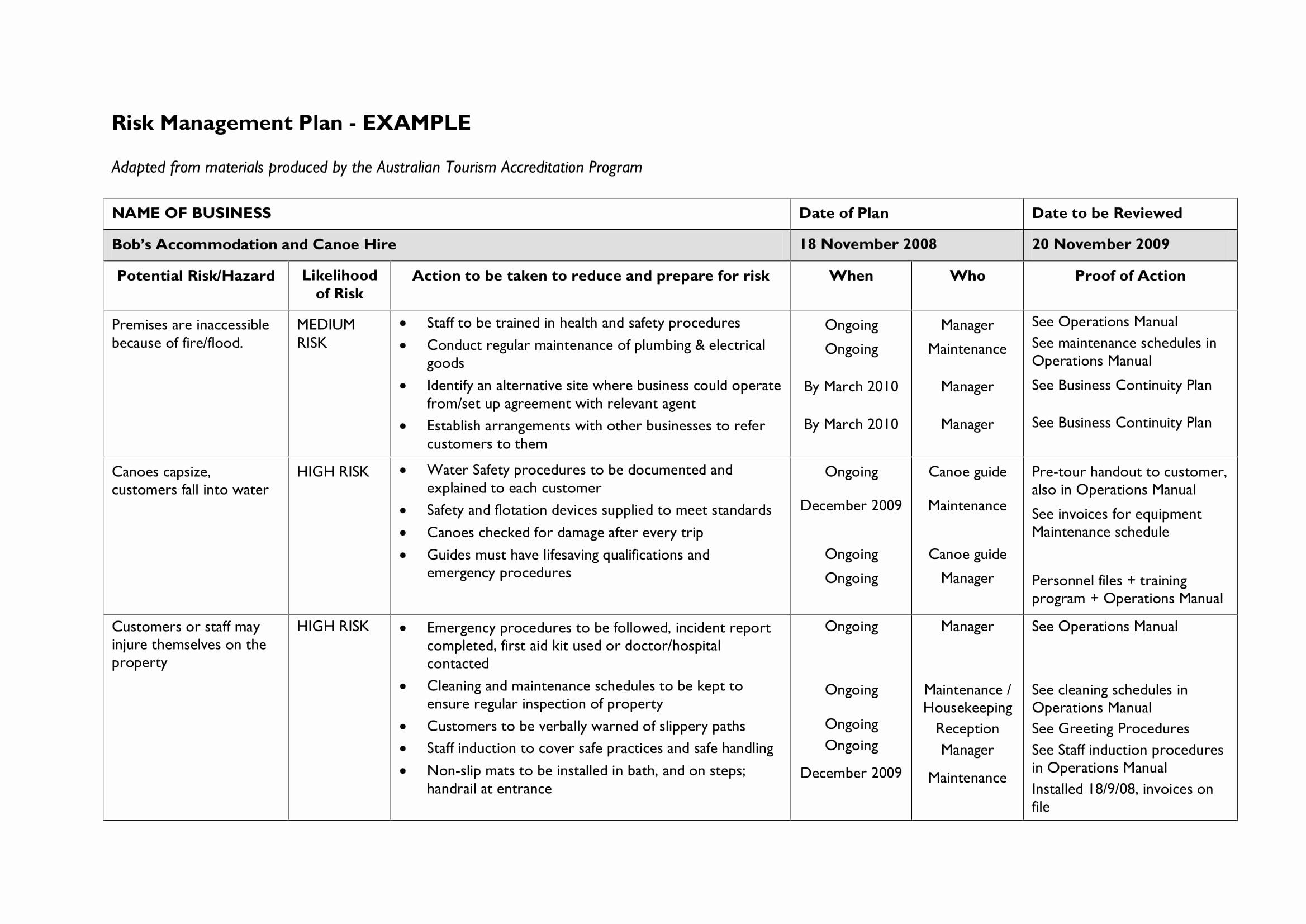 Management Plan Example from i.pinimg.com