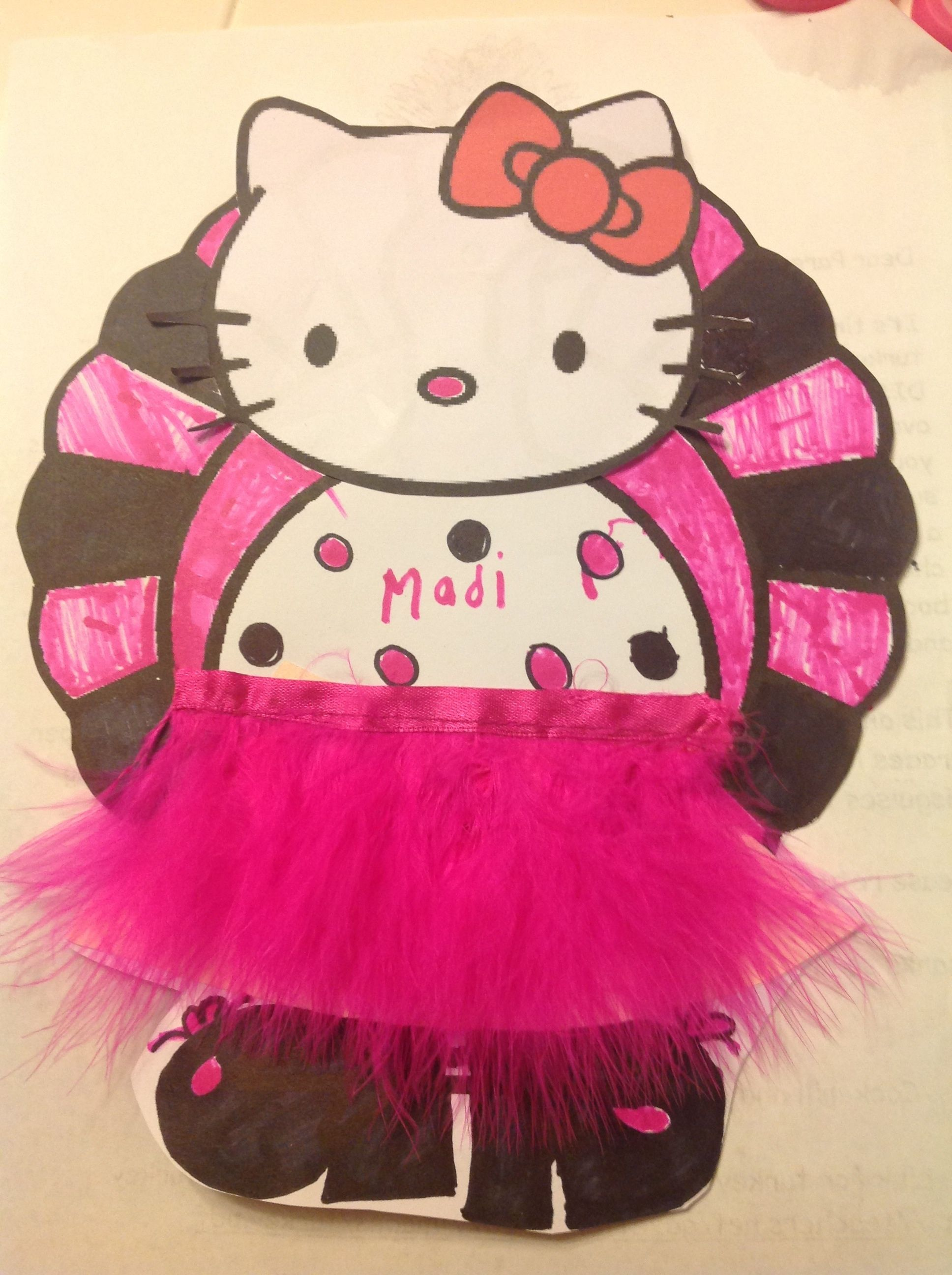 My Daughters Hello Kitty Turkey Disguise For School I