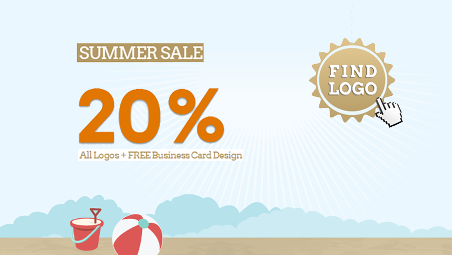 SUMMER SALE 20% OFF All Logos + FREE Business Card http://design ...