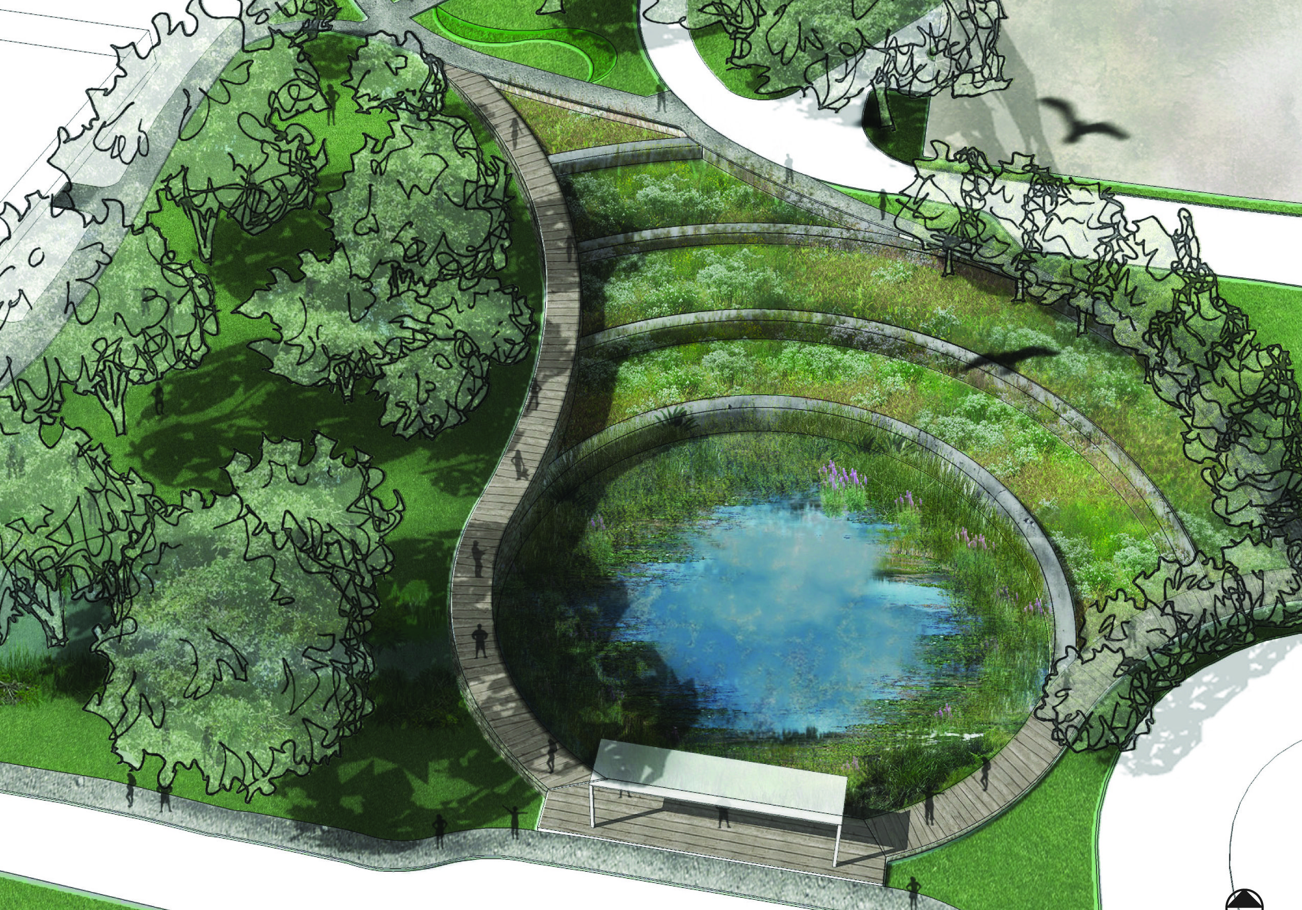 design of stormwater detention ponds epa announces winners of the 2013 campus rainworks