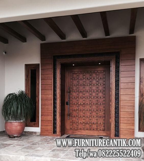 Pintu Utama Rumah Mewah Minimalis Jati Toko Furniture
