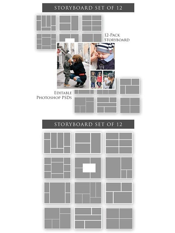 Storyboard Templates - Set Of 12 | Magazines, Set Of And Templates