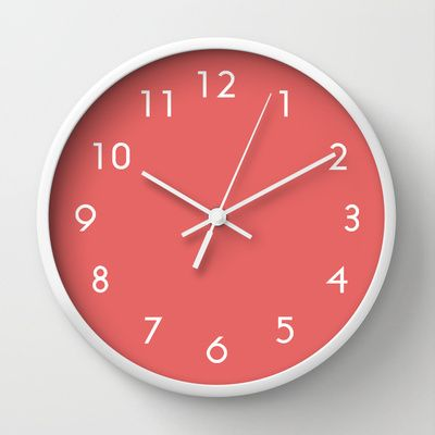 Cayenne Wall Clock By Beautiful Homes Society6 Red Wall Clock Wall Clock Clock