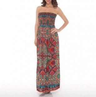 5ac8dd98da1 Smocked Tube Maxi Dress