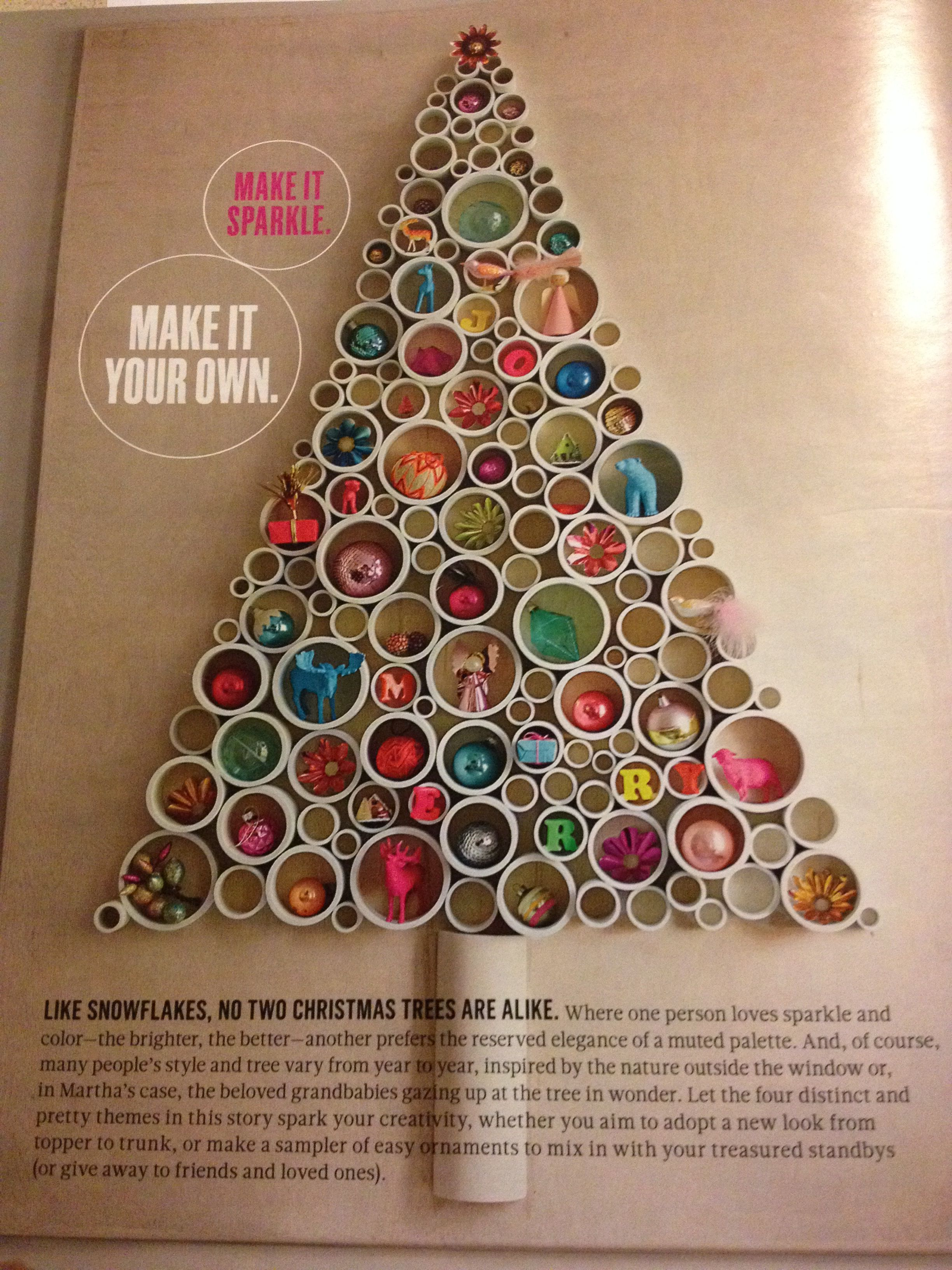 Christmas tree alternative pvc and plywood holidays - Arboles de navidad manualidades navidenas ...