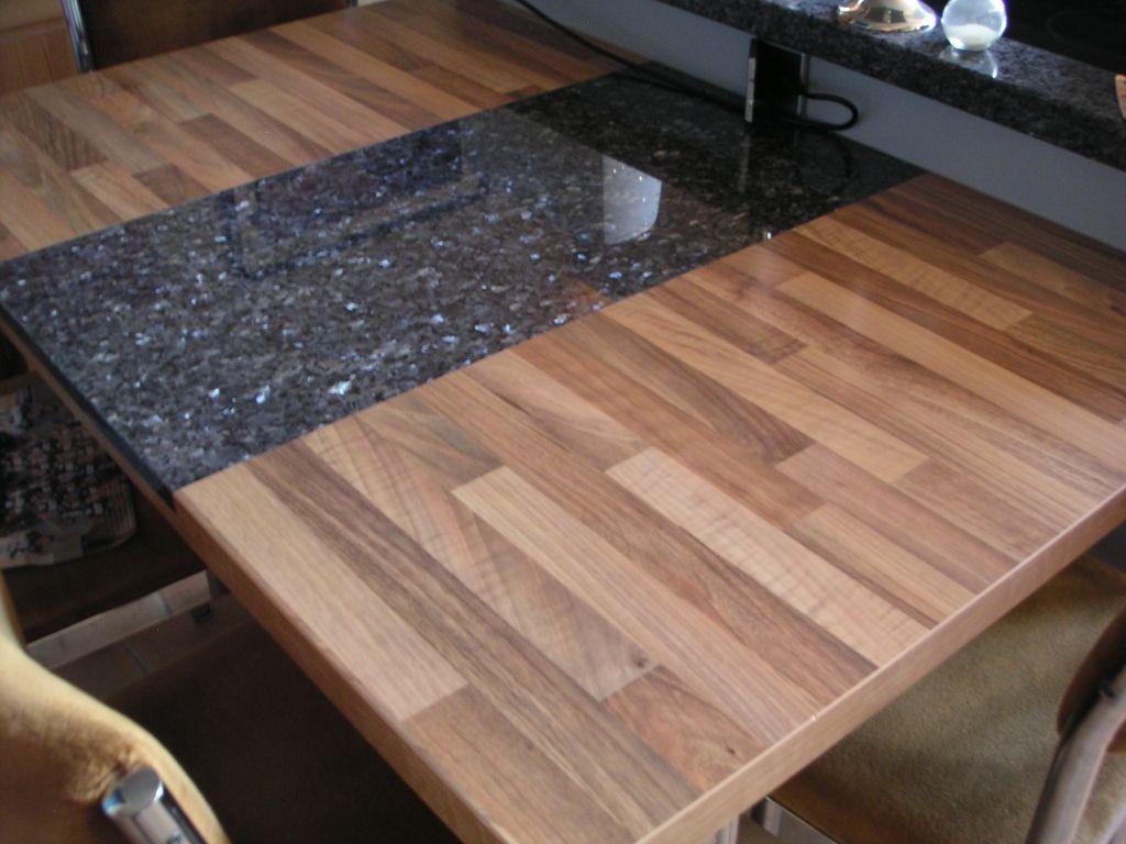 Intarsie Aus Granit In Holzplatten Holzplatte Tisch Bauen Design Tisch