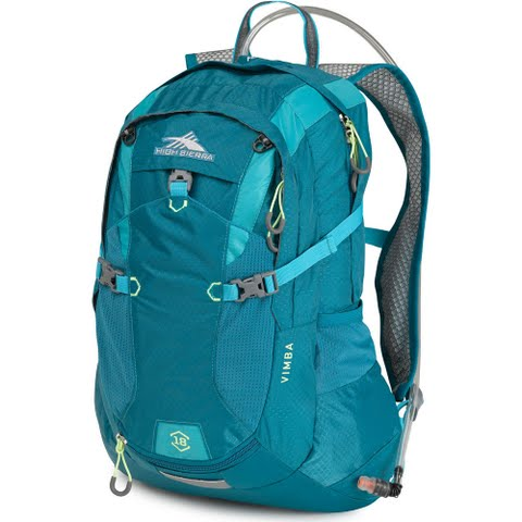 High Sierra Vimba 18l Hydration Pack - Sea / Tropic Teal / Zest: Are you the type that can either be found… #OutdoorGear #Camping #Hiking