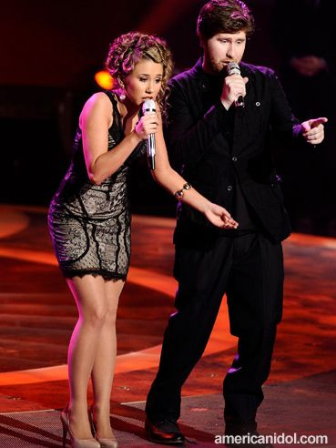 Casey Abrams And Haley Reinhart