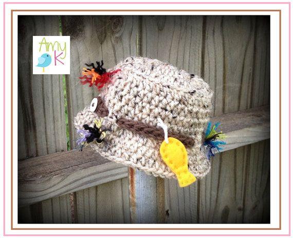 Baby Boy Fisherman Hat Baby Bucket Hat Crochet Baby by azek2000 ... 411b194dec9