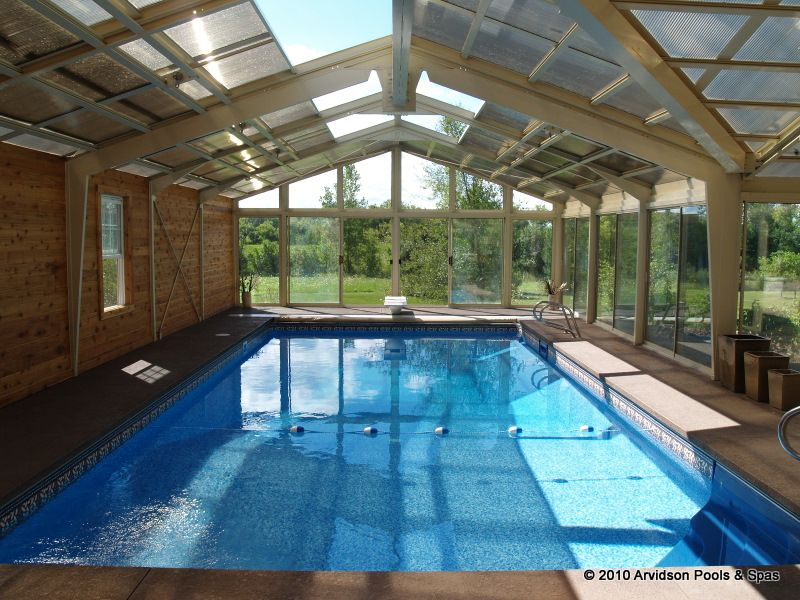 Superbe Another View Of One Of Our Indoor Swimming Pools. Retractable Roof Makes It  A Perfect All Season Swim And Party Spot!