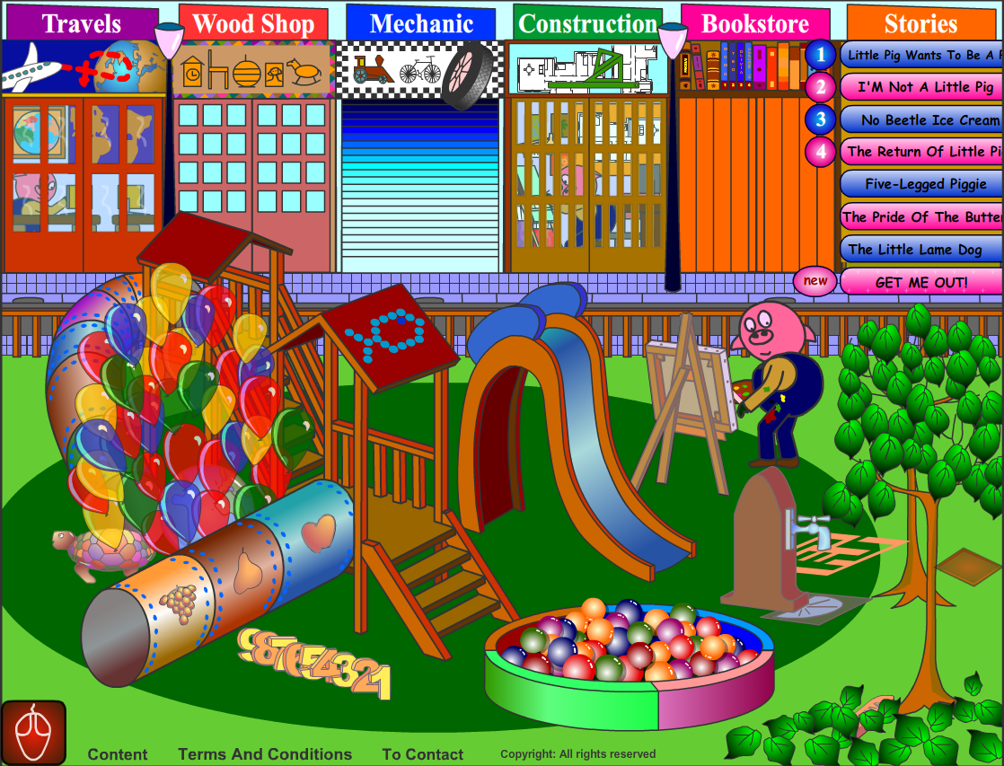Cincopatas: Neat site with over 50 interactive games for Pre-k/K.