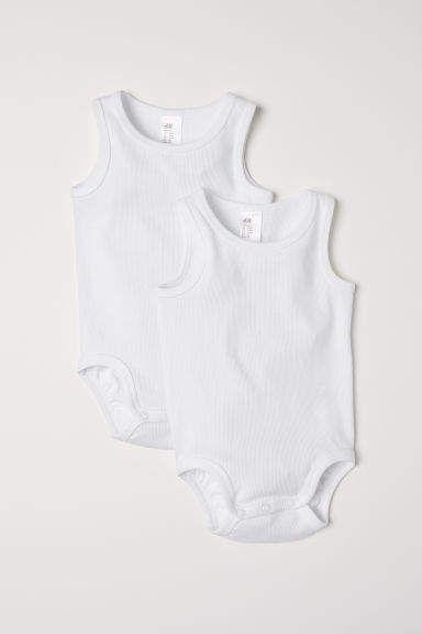 71278fcf11c0 2-pack Bodysuits - White #ribbed#organic#bodysuits | Kids Fashion ...