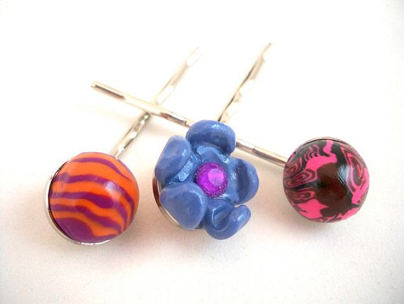 Bobby pins bright colors set of three fun for girls by HiGirls