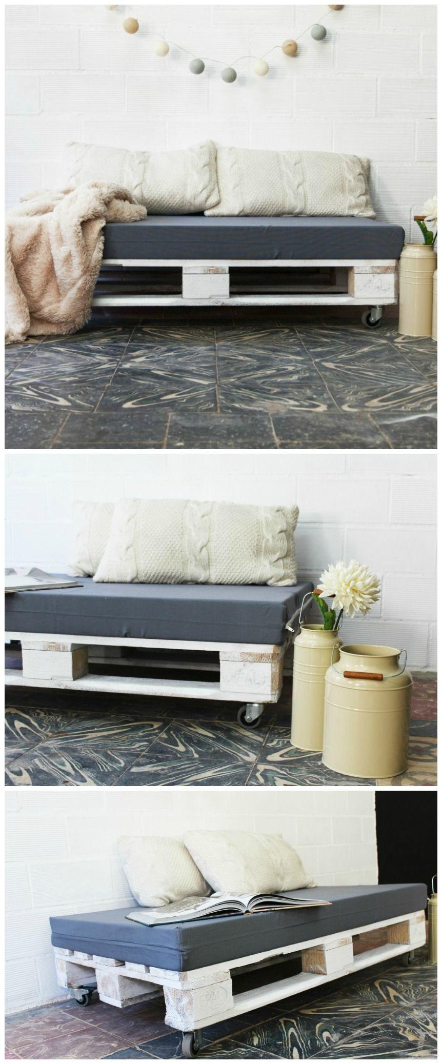 Aneto puf palets 120x80cm muebles con palets - Mesas de pale ...
