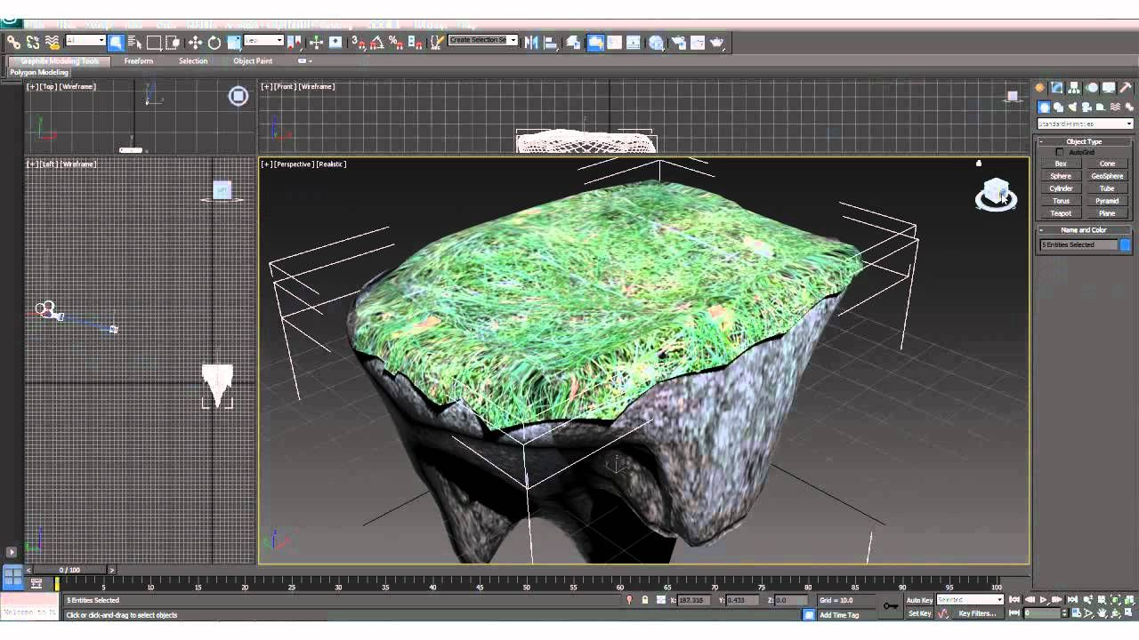 3ds max tutorial how to make a sky island art for 3d max tutorial