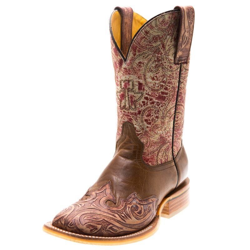 Shop Women's Tin Haul Handtooled Heart Cowgirl Boots | Boots ...
