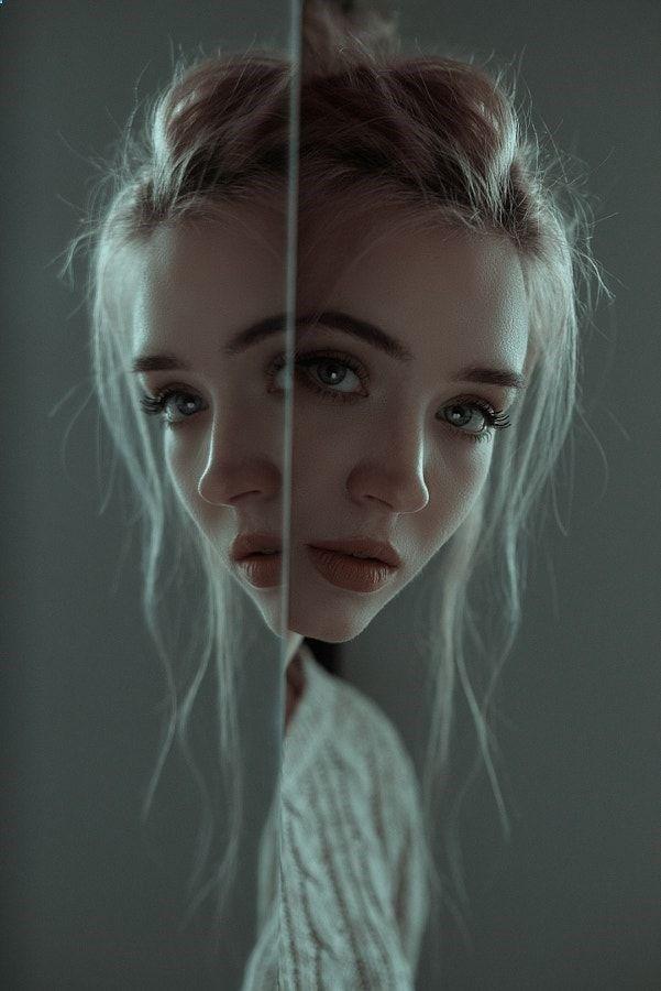 Portrait Photography | Creative self portrait ideas | Reflections create interest