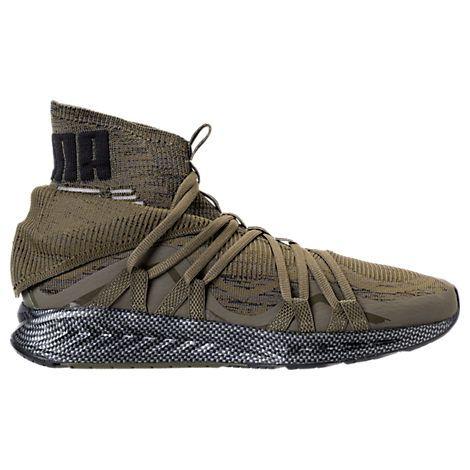 puma men's ignite evoknit fold casual shoes green