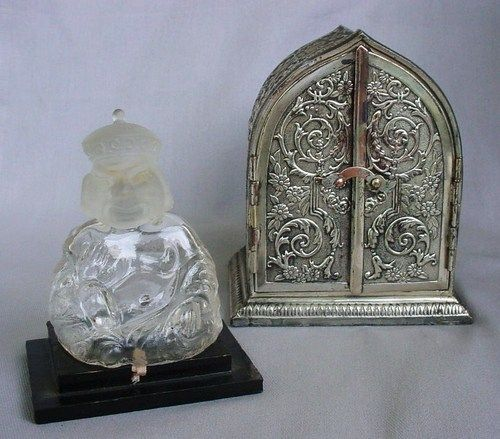 "1915 Vantines ""Buddha in Shrine"" Jafleur Perfume Bottle RARE Beautiful   eBay"