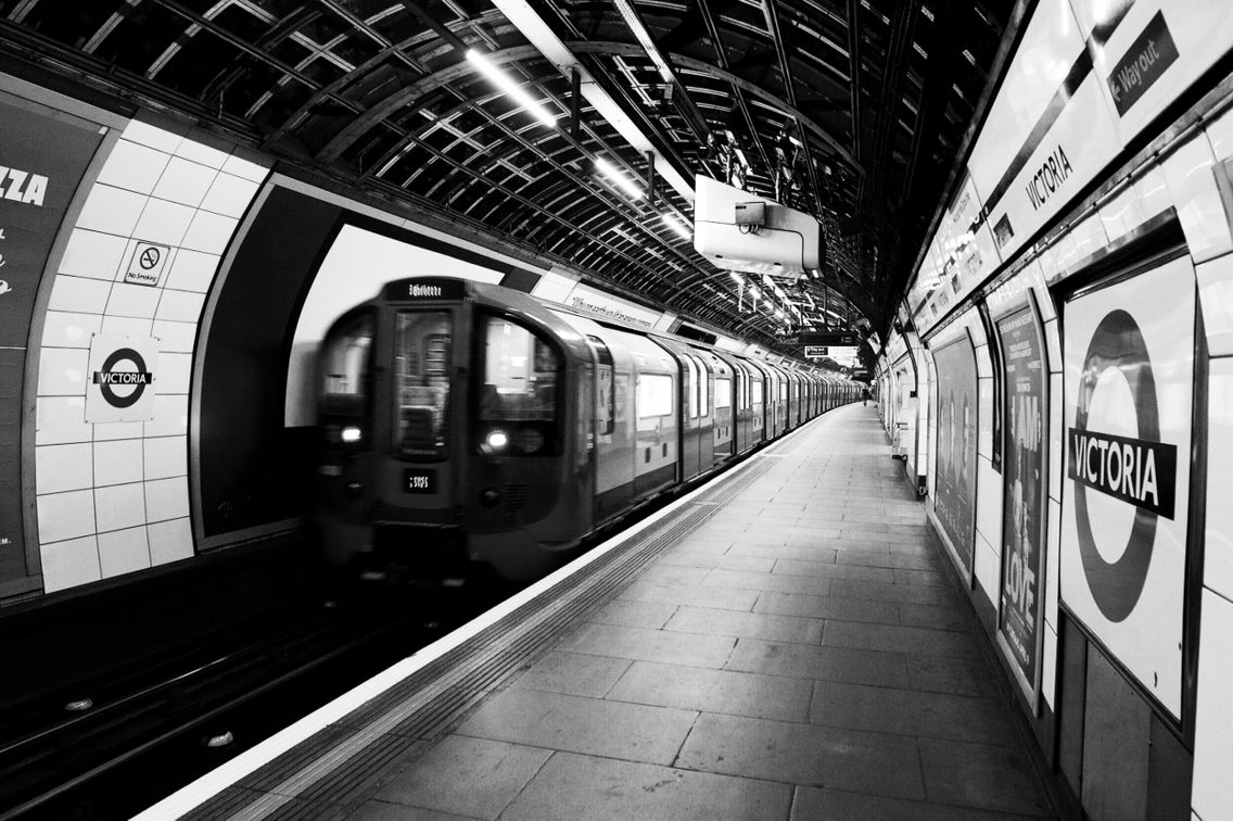 Picadilly Underground 1 Westminster London Black and White Picture Traver Metro