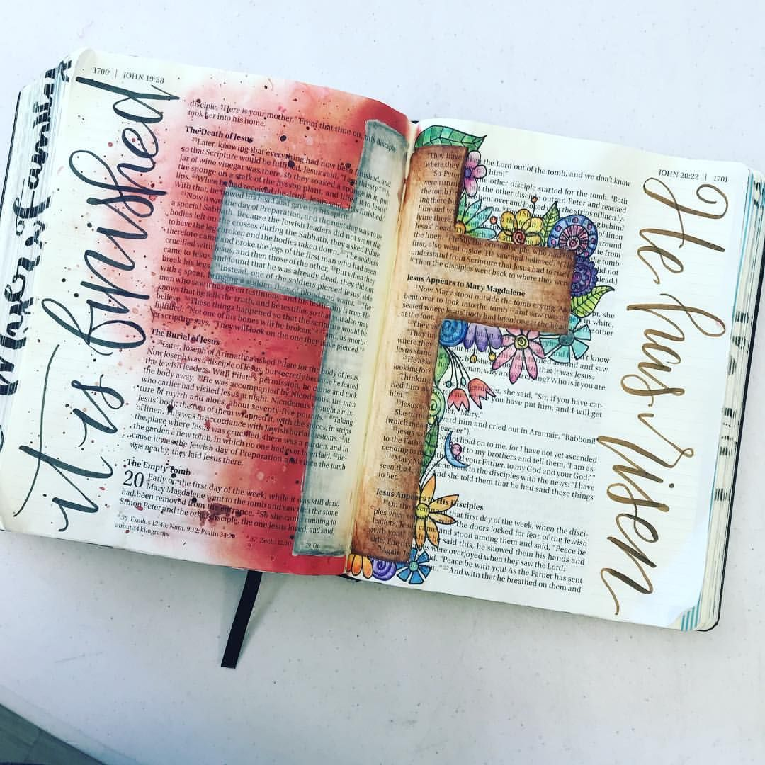 I got a lot accomplished at the monthly SBC Bible Journaling day today in John. . . . . #biblejournaling #bibleverse… #bible